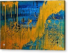 Dipped In Gold Acrylic Print by Eric Chapman