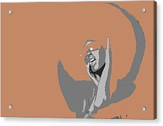 Disco Dance Brown Acrylic Print by Naxart Studio