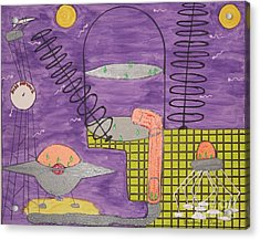 Dish Network Acrylic Print by Gregory Davis