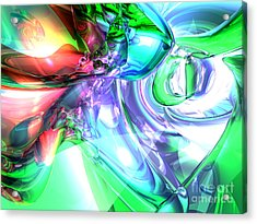 Disorderly Color Abstract Acrylic Print by Alexander Butler