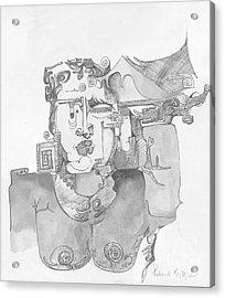 Distortion 3 Acrylic Print by Padamvir Singh