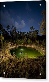 Divers Surface After Collecting Acrylic Print by Wes C. Skiles