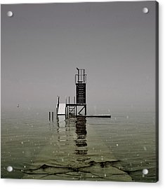 Diving Platform Acrylic Print by Joana Kruse