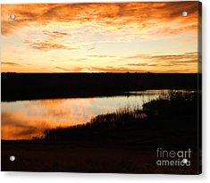 Dixon Reservoir Sunrise Acrylic Print by Sara  Mayer