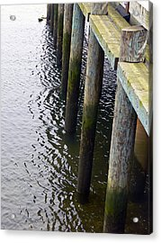 Dock Of The Bay  Acrylic Print by Pamela Patch