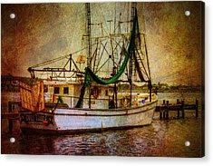 Docked In Backbay Acrylic Print by Barry Jones
