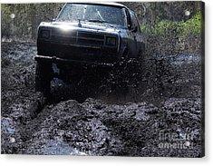 Dodge Ramcharger In Local Mud Acrylic Print by Lynda Dawson-Youngclaus