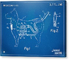 Doggie Vacuum Patent Artwork Acrylic Print by Nikki Marie Smith