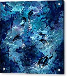 Dolphin Enchantment Acrylic Print by Rachel Christine Nowicki