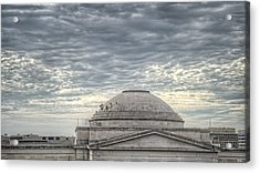 Dome Workers Acrylic Print by Jim Pearson