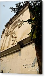 Donations Welcome Acrylic Print by Dean Harte