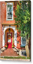 Door In Historic District I Acrylic Print by Steven Ainsworth