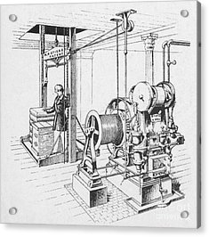 Double Oscillating Steam Engine Acrylic Print by Science Source