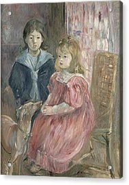 Double Portrait Of Charley And Jeannie Thomas Acrylic Print by Berthe Morisot