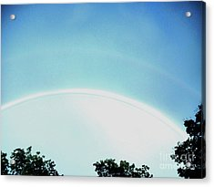Double Rainbow After The Storm Acrylic Print by Marsha Heiken