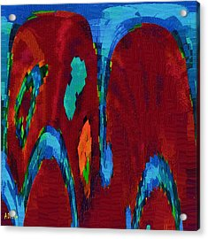 Down On My Knees Acrylic Print by Alec Drake