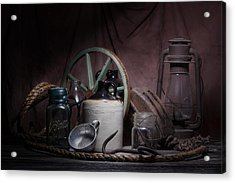 Down On The Farm Still Life Acrylic Print by Tom Mc Nemar
