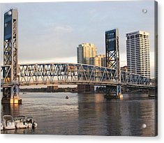 Downtown Jacksonville Acrylic Print by Tiffney Heaning