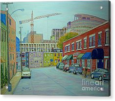 Doyle Street Halifax Acrylic Print by Rae  Smith PSC