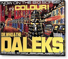 Dr. Who And The Daleks, Poster, 1965 Acrylic Print by Everett