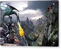 Dragon Valley Acrylic Print by The Dragon Chronicles - Garry Wa