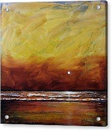 Drama Ocean Acrylic Print by Toni Grote