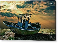 Dramatic Dungeness Acrylic Print by Meirion Matthias