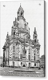 Dresden's Church Of Our Lady - Reminder Of Peace Acrylic Print by Christine Till