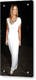 Drew Barrymore Wearing A Donna Karan Acrylic Print by Everett