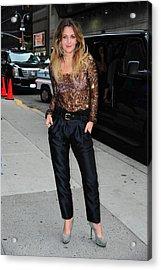 Drew Barrymore Wearing A Richard Chai Acrylic Print by Everett