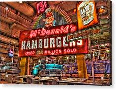 Driving America Dearborn Mi Acrylic Print by Nicholas  Grunas