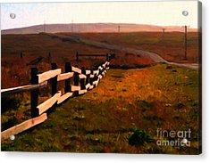 Driving Down The Lonely Highway . Study 2 . Painterly Acrylic Print by Wingsdomain Art and Photography