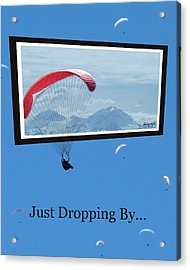 Dropping In Hang Gliders Acrylic Print by Cindy Wright