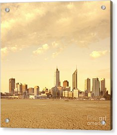 Drought-affected City Acrylic Print by Dave & Les Jacobs