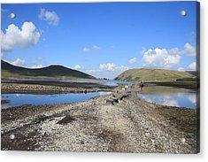 Dry Reservoir Acrylic Print by Stephen Kennedy