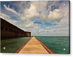 Dry Tortugas Sea Wall Acrylic Print by Patrick  Flynn