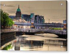 Dublin Acrylic Print by Barry R Jones Jr