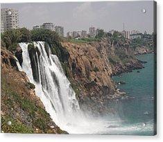 Duden Waterfalls In Turkey Acrylic Print by