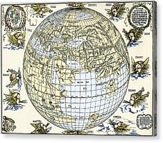 Durer's World Map, 1515 Acrylic Print by Sheila Terry