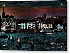 Dusk Venice Italy Acrylic Print by Tom Prendergast