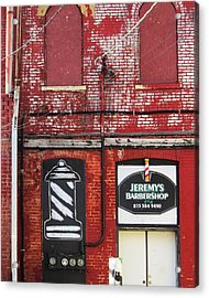 Dwight Barber Shop Acrylic Print by Todd Sherlock