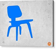Eames Blue Chair Acrylic Print by Naxart Studio
