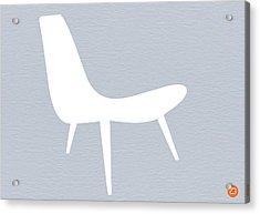 Eames White Chair Acrylic Print by Naxart Studio