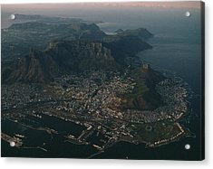Early Morning Aerial View Of Cape Town Acrylic Print by James L. Stanfield