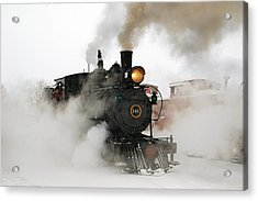 Early Morning Winter Steam Up Acrylic Print by Ken Smith