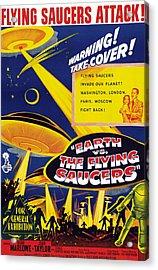 Earth Vs. The Flying Saucers, Joan Acrylic Print by Everett