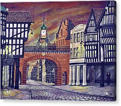 Eastgate Clock - Chester Acrylic Print by Ronald Haber