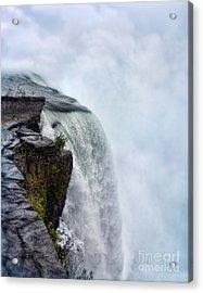 Edge Of Niagara Falls Acrylic Print by Jill Battaglia