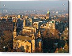 Edinburgh On A Winter's Day Acrylic Print by Christine Till
