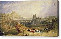 Edinburgh Acrylic Print by Thomas Brabazon Aylmer